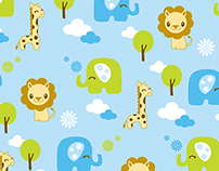Nursery Safari Prints Fabric & Surface Design