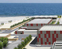 Dessalination plant in Oman, 3d renderings