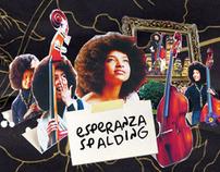"""Esperanza Spalding"" Promotional designs & Web Desing"