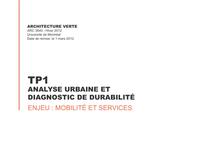 Analyse urbaine et diagnostic de durabilité
