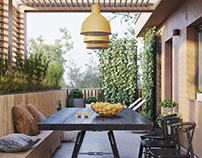 Terracotta terrace