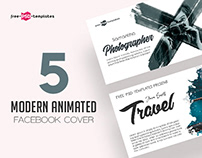 5 MODERN ANIMATED FACEBOOK COVER IN PSD