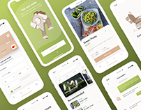 Healthy food delivery mobile application Go!Green
