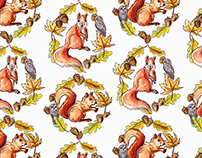Beatrix Potter Pattern, Squirrel Nutkin