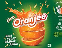 Oranjee....Orange Drink Label Design