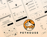 Ux Design - Pet House - Wireframe Concept