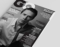 GQ Magazine Cover Photography and Graphic Design