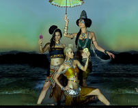 calendar 2011 -2012  -Indian women in different eras