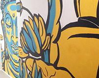 Illuminate Yoga Mural Art