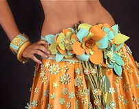 Paper Dress  designed and made by Sonya Sanchez Arias