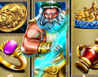 Game art for Slot game :The Zeus