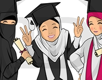 Character Design / Daily Muslimah
