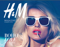 Artworking: H&M Summer Korean magazine