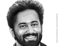 Actor- unni mukundan - watercolour painting