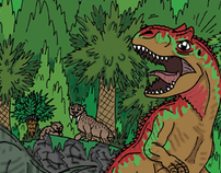 Book Design: 'Island of the Bargain Basement Dinosaurs'