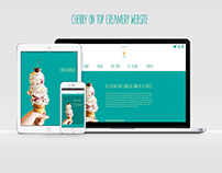 """Cherry On Top Creamery"" Branding"