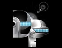 Daft Punk Typography Poster