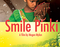 Posters, postcard & website: Smile Pinki