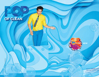 Pop in Stand out. Campaign for Tide