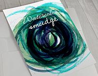 Watercolor smudge design.