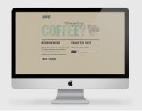 GetCoffee.at website/web-app design