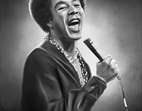 Smokey Robinson Digital Art by Wayne Flint