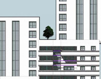 Bachelor project. Microdistrict. High-storey building