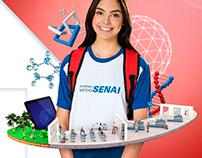 Ilustrações 3D para anúncios Fiesc/Senai | Agência MDO