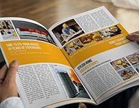 Building Construction Magazine Template
