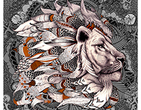 Lion, artwork for record label