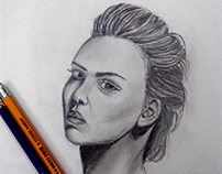 Drawing portrait Girl By Pencil and Shading