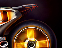 Futuristic motorcycle making of : furious wheels