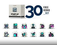 Free Business Startup Icon Set