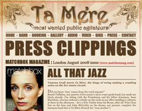 Creation of a website for Ta Mere, a swing/jazz band