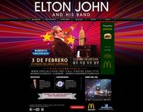 Web Design - Elton John Concert