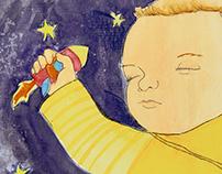 Yo quiero un beso. Ilustración libro infantil. 2016.