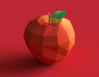 Lowpoly Apple