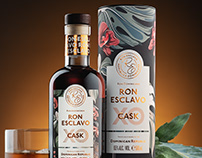 Ron Esclavo - Rum Packaging Illustrations