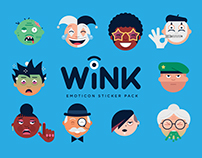 Wink - Emoticon Sticker Pack