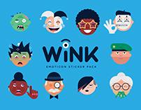 Wink - Emoticon Sticker Pack