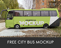 Free City Bus Mockup