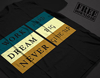Typography T-shirt & Download Free t-shirt mockup