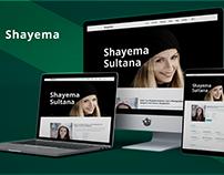 Shayema (Portfolio Web UI Landing Page Design)