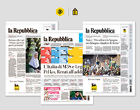 La Repubblica Newspaper Redesign