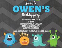 Owen's First Birthday Invite