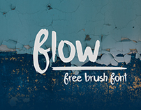 Flow | free brush font
