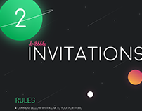 Dribbble invitations to giveaway (2)