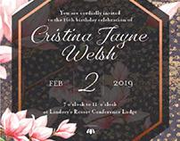 Cristina's Sweet 16 Invitation
