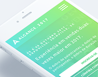 Alcance 2017 new website UI/UX design