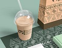 Pecan Coffee House Logo Concepts